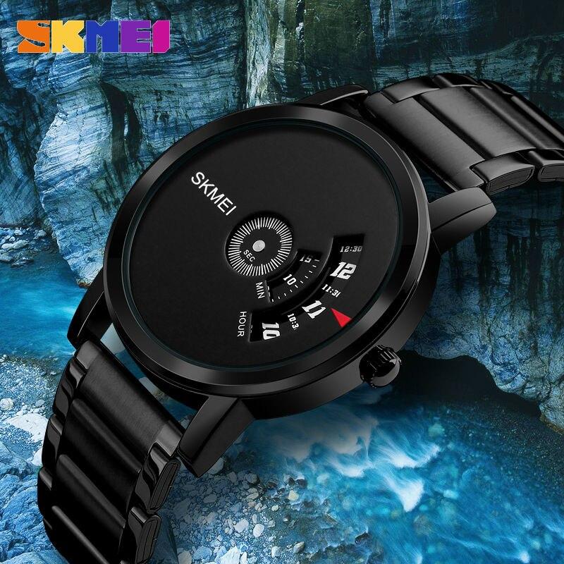SKMEI Men Fashion Quartz Sports Watches Military Luxury Stainless Steel Strap Watch 30M Waterproof Mens Clock Relogio Masculino