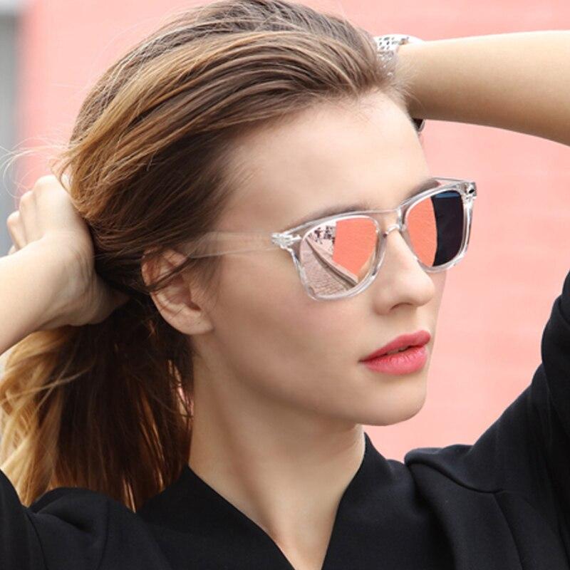 Long Keeper Sunglasses Women Polarized UV400 Men Night Vision Transparent Frame Eyewear Male Mirror Reflective Sun Glasses UV400