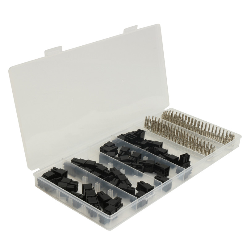 50pcs ATX EPS PCI-E Female Connector 5557 6 Pin + 300pcs Terminal Crimp Pin Plug Set High Quality good quality 10pcs black 6pin pci e female molex connector 4 2mm 5559 gpu connector