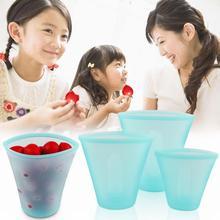 3 шт силиконовые контейнеры для хранения продуктов миска для свежей еды органайзер для холодильника многоразовые стоьте вверх молнии закрывать мешок фрукты овощи чашка с уплотнением