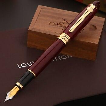 Duke 146 Original European Taste Fountain Pen Iridium Medium Nib Ink Duke Pen, Noble Red Color for Office Business Gift Supplies