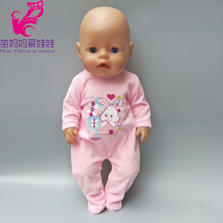 все цены на doll clothes for baby born dolls pink fur winter jumpsuit for 18