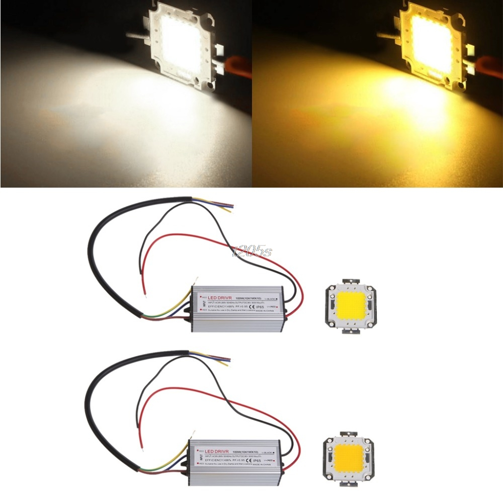 High Power 100W LED SMD Chip Bulb With Waterproof Driver Supply DC 20-24V LED Beads Q01 Dropship