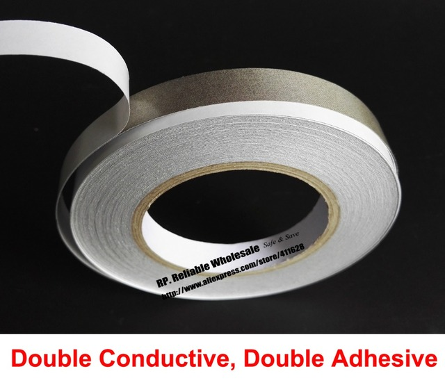 (10mm*20M) Double Sided Adhesive Electrically Conductive Fabric Cloth Tape for Laptop Tablet Phone EMI Shielding Radiation-proof