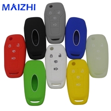 maizhi 4 Buttons Luminous choice Silicone Remote Car Key Case Cover for Ford Fusion 2013-2015 Car-styling