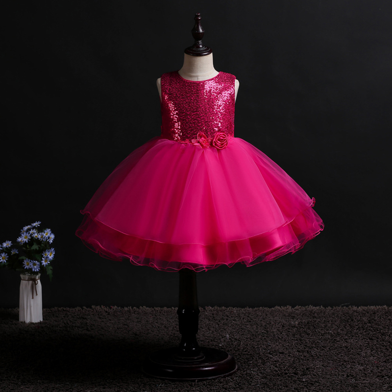 U-SWEAR 2019 New Arrival Kid   Flower     Girl     Dresses   Sequined Beaded   Flower   Bow Chiffon Ball Gown Pageant   Dresses   For   Girls