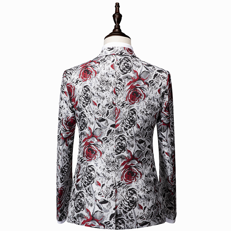 Plyesxale 2 Piece Men Suit 2018 Slim Fit Wedding Suits For Men 5XL 6XL Mens Floral Suit Luxury Stage Prom Wear Jacket Pants Q50 in Suits from Men 39 s Clothing