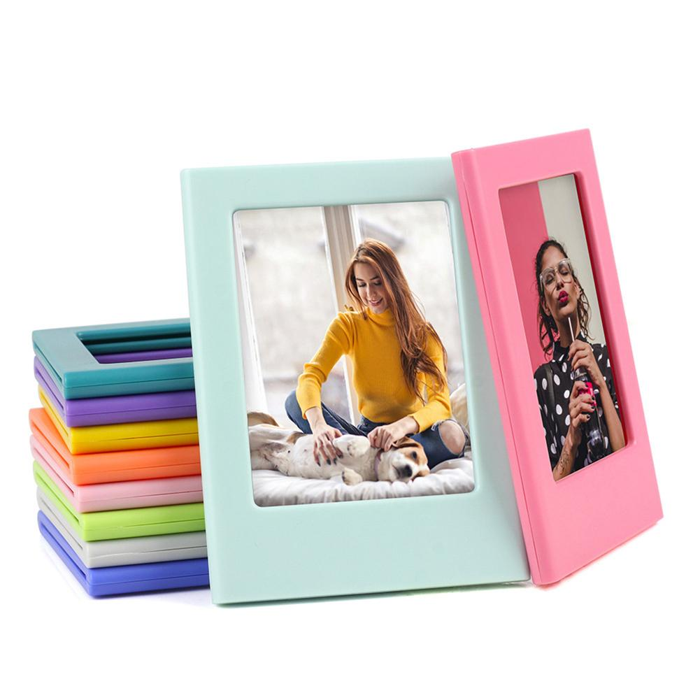 Table-Decoration Photo-Holder Magnetic Mini 3inch Building-Blocks Assembly-Style ABS