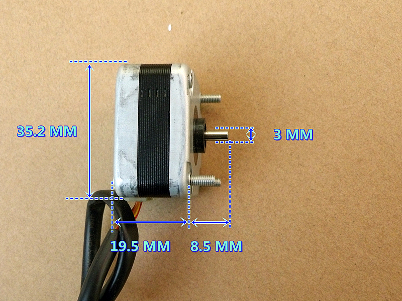 35 stepper motor 3D printer 2 phase 4-wire with 1.8 degree step angle NMB Double Ball Bearing35 stepper motor 3D printer 2 phase 4-wire with 1.8 degree step angle NMB Double Ball Bearing