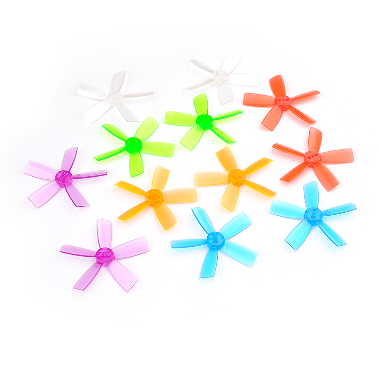 4pairs <font><b>2035</b></font> 2 Inch 50.8mm PC four-blade Racing Drone <font><b>Propeller</b></font> 1.5mm Shaft CW CCW image