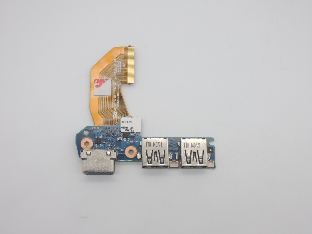 For HP EliteBook 840 845 G1 740 745 850 855 G1 USB Board VGA Interface Board with Cable ZBOOK14 6050A2638201 6050A2559210 744009 501 744009 001 for hp probook 640 g1 650 g1 motherboard socket 947 hm87 ddr3l tested working