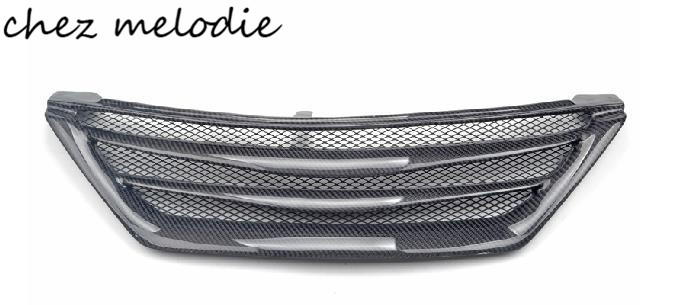 GS style real Carbon fiber/primer unpainted FRP car front Grill for TOYOTA MARK X REIZ 2005 2009/2010 2011 2012