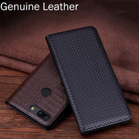 2pcs Genuine Leather Flip Case For Oneplus 5T 5 T A5010 Case Back Case Cover For