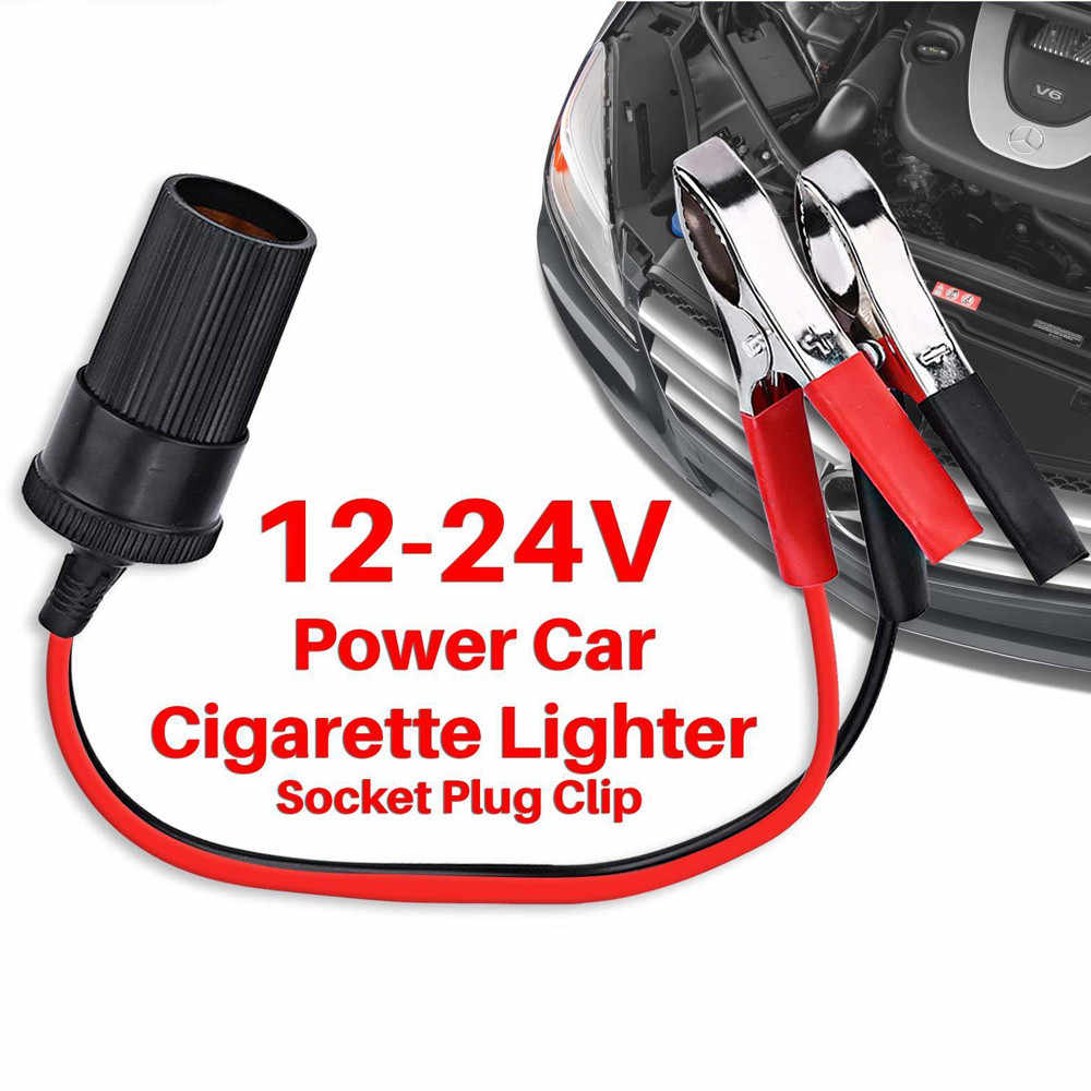 Top quality 100%new Car Cigarette Lighter Socket 12V Portable Power Plug Adapter Crocodile Clip auto cigarette lighter socket