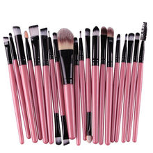 8 Colours 20pcs A set of Brushes for Make-up Professional Eye Shadow Foundation Eyebrow Lip Makeup Brush Suit Make Up Tools