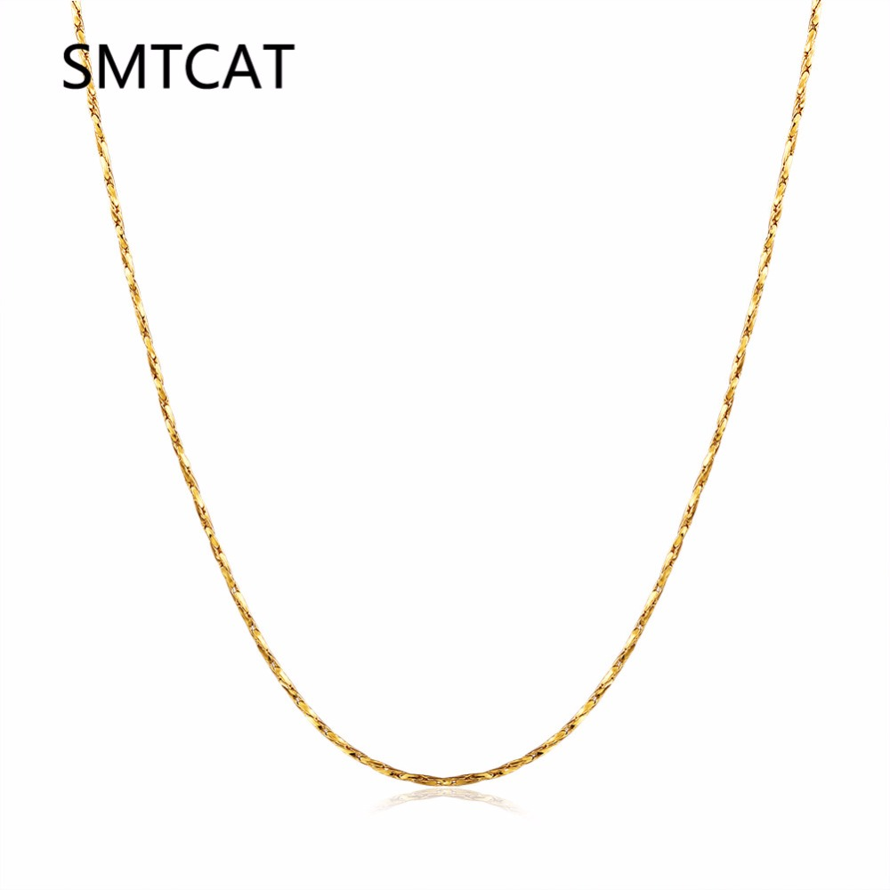 Women's fine Thin Chain for pendant 18KGP Electroplate Gold Rose Gold Silver 0.5mm necklaces Chains Fastness to fading Chains