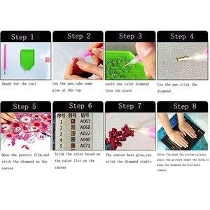 Image 5 - Gorące pełne kwadratowe robótki wystrój domu wzór diamentowe hafty nocne kwiaty diamentowe malowanie Cross stitch diament Kit