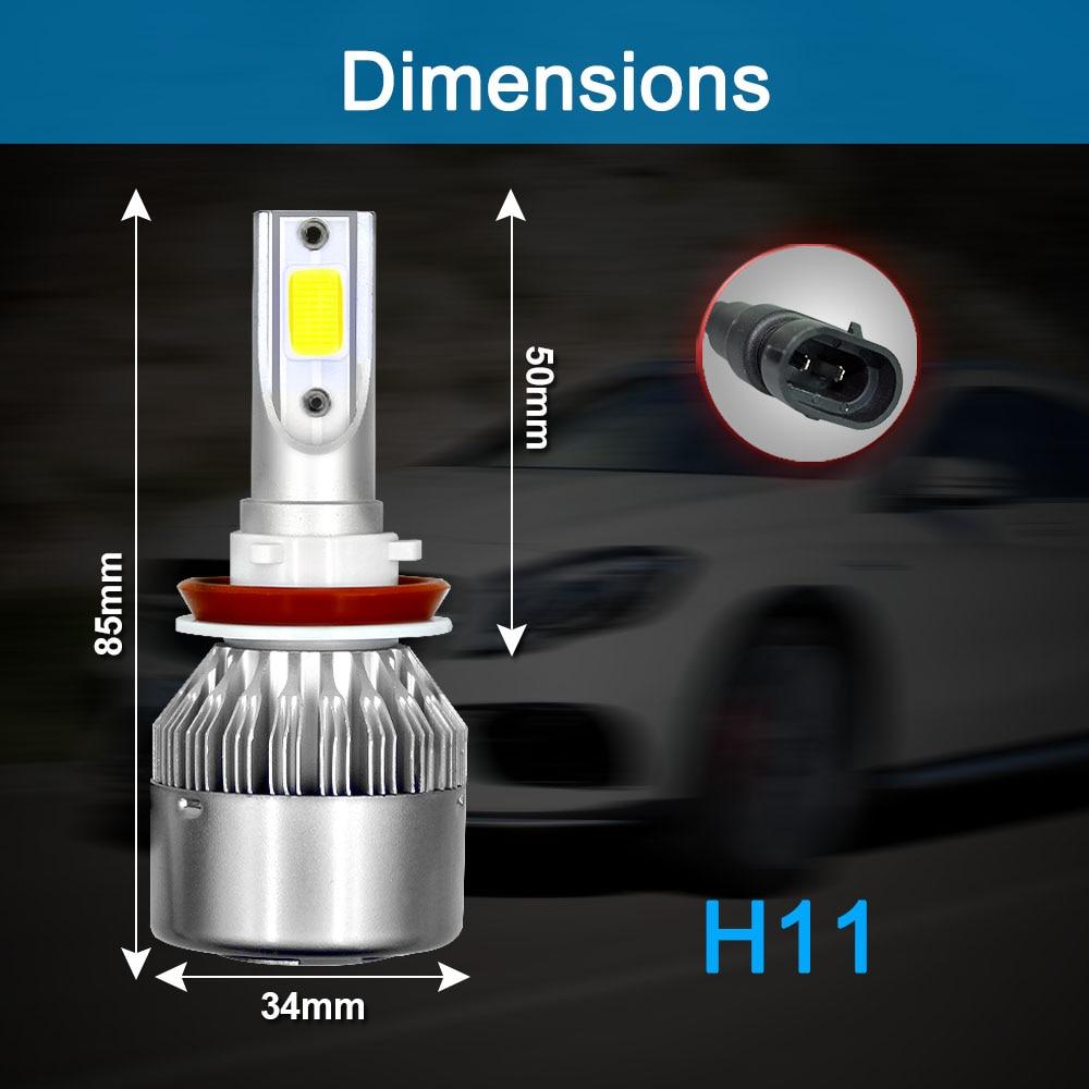 CROSSFOX Auto Bulbs LED H7 H4 H11 H1 H3 H13 880 9004 9005 9006 9007 9003 HB1 HB2 HB3 HB4 H27 LED Car Headlights