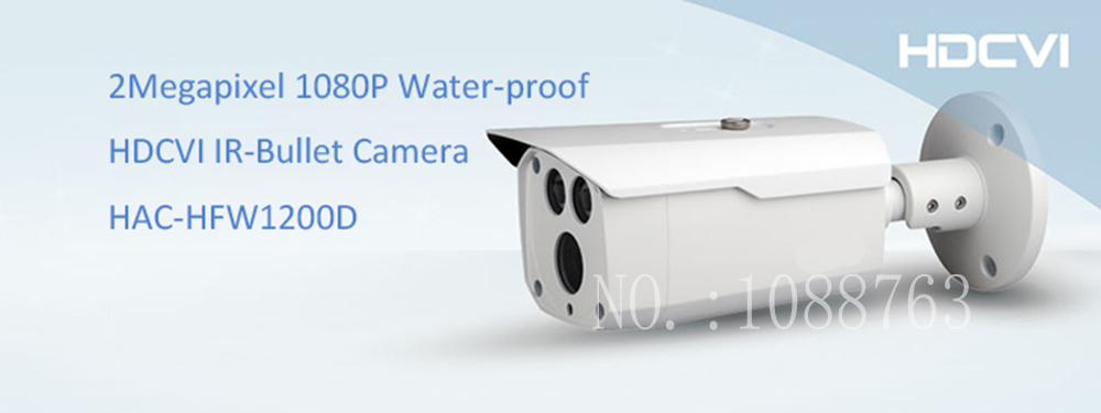 Free Shipping DAHUA Outdoor Camera CCTV 2MP 1080P Water-proof HDCVI IR Bullet Camera Smart Camera without Logo HAC-HFW1200D 2016 dahua hac hfw2220e 2 4m 1080p ip67 water proof hdcvi ir bullet camera english firmware 2016 hot sale free shipping