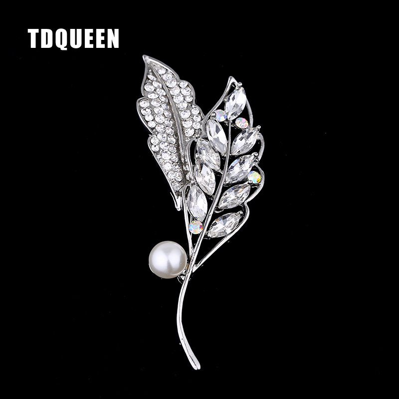 TDQUEEN Woman Brooches Accessories Clothes Sweater Delicate Crystal Mother Gift Jewelry Silver Color Simple Design Brooches Pins