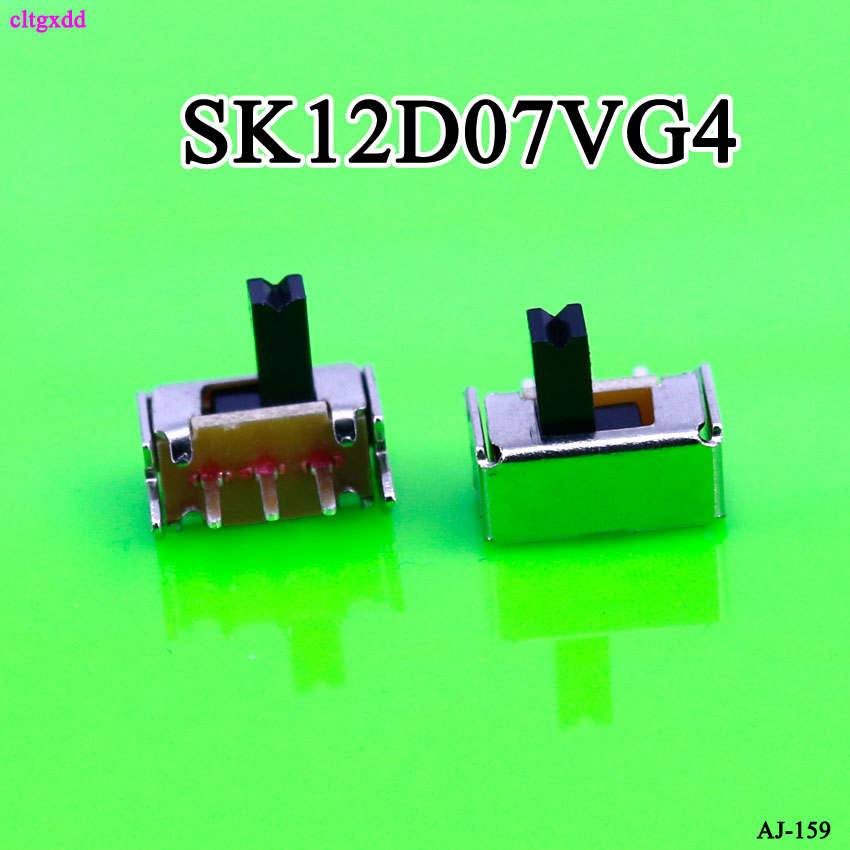 Cltgxdd 10 шт. YT1998Y SK12D07 тумблер 3Pin PCB 2 положения 1P2T SPDT Миниатюрный переключатель скольжения Боковая ручка SK12D07VG4
