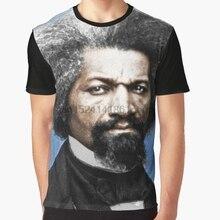 Impresión 3D mujeres T camisa hombres camiseta divertida Frederick Douglass  pintura en Color camiseta(China 29f05970084