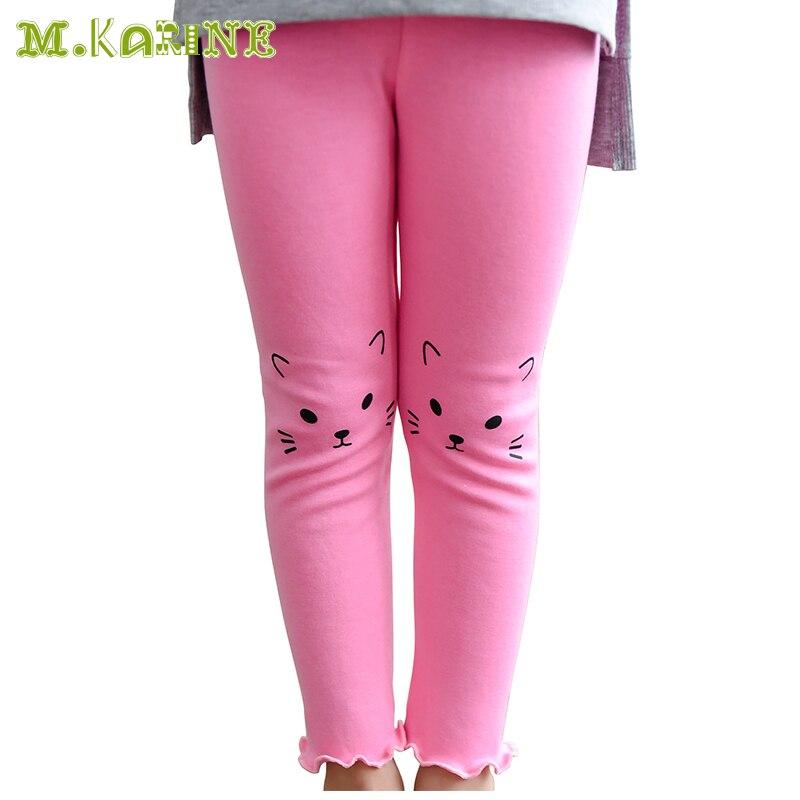 Hot Spring Girls Leggings Cute Cat Print Baby Kids Pantyhose Candy - Children's Clothing