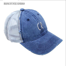 Letters Cotton Mesh Baseball Caps Unisex Outdoor Sports Sun Hats Gorras Vintage Summer Tucker Cap For Men Women недорго, оригинальная цена