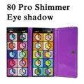 Новое Высокое Качество Профессиональный Pro 80 Shimmer Цвет Косметика Для Макияжа Указан Яркий тени для век Кисти в Благородный Сумочка B008-V