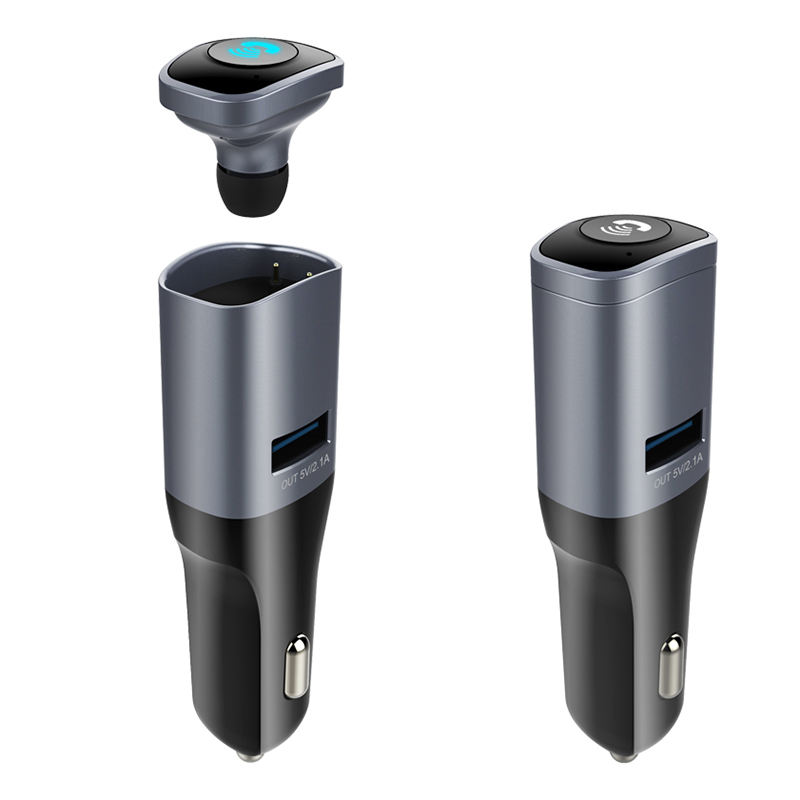 1 pcs Portable Wireless Bluetooth Earphone Headphone Car Charger 2 in 1 Bluetooth Headset 2.1A Fast Car Phone Charger S1J67 original r6000 wireless headphone bluetooth headset for samsung xiaomi iphone 7 car charger 2 in 1 bluetooth earphone