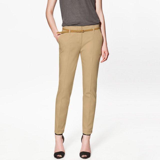 Mulheres Skinny Calças Lápis Magro Estiramento Calças de Cintura Alta Com Cinto