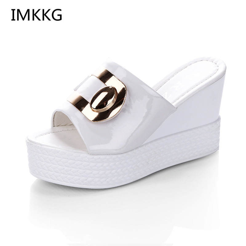 IMKKG 2018 Summer style Sexy Platform Wedges High Heels