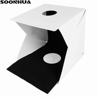 SOONHUA Portable Folding Lightbox Photography Photo Studio Softbox Lighting Tent Kit Light Box for DSLR Camera Photo Backdrop
