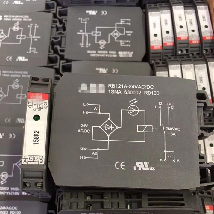 Relay terminal module RB121A-24VAC/DC 1SNA 630002 R0100 1SNA630002R0100 RB121A-24VAC RB121A-24VDC 24VAC AC24V 24VDC DC24V 24V g5nb 1a e 24vdc g5nb 1a 24vdc