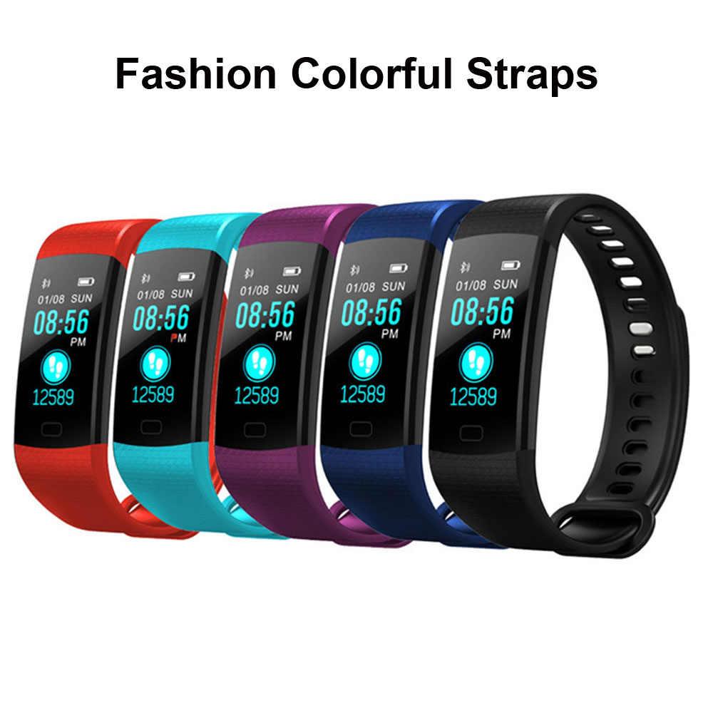 رخيصة لون ساعة ذكية الرجال النساء الاطفال Reloj ذكي التطبيق لتحديد المواقع Smartwatch صالح لابل شياو mi سامسونج PK mi الفرقة 4/IWO 8