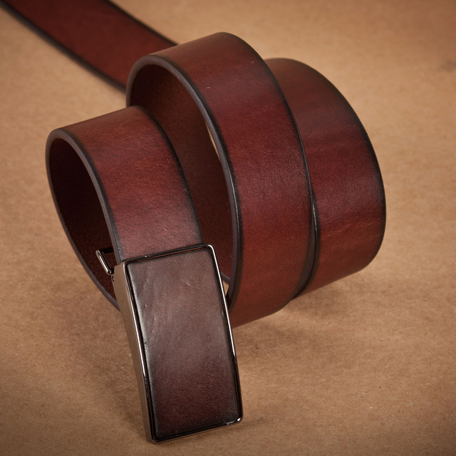Handmade first layer of cowhide personalized belt male first layer of cowhide genuine leather cummerbund