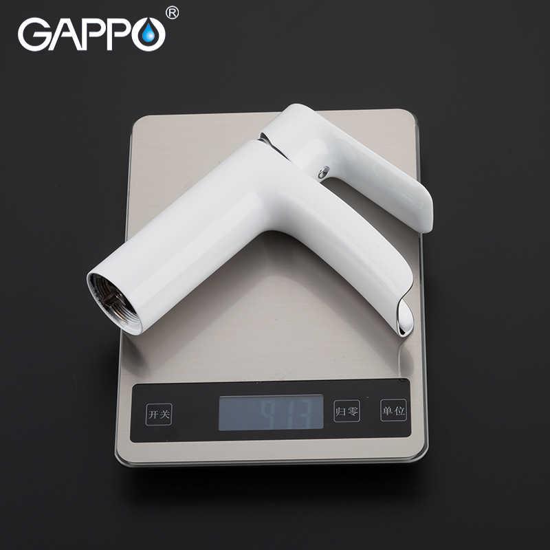 GAPPO смесители для раковины Ванная комната смеситель для раковины белый кран для раковины кран хромированный смеситель-водопад смеситель для раковины кран для ванны латунный смеситель