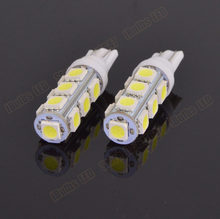 10Pcs T10 194 168 W5W 5050 13 SMD LED White Car Auto Light Source Wedge Side Tail Turn Reverse Bulb Parking Lamp DC12V(China)