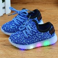 Eur21-36 Kids New Fashion Children Shoes with Led Light Up Shoes Luminous Glowing Sneakers Toddler Boys Girls Shoes Led Sneakers