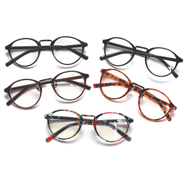 9c6808b3b385 Fashion Men Women Retro Glasses Clear Lens Eyewear Unisex simple Decent  Round Frame Eyeglasses Spectacles
