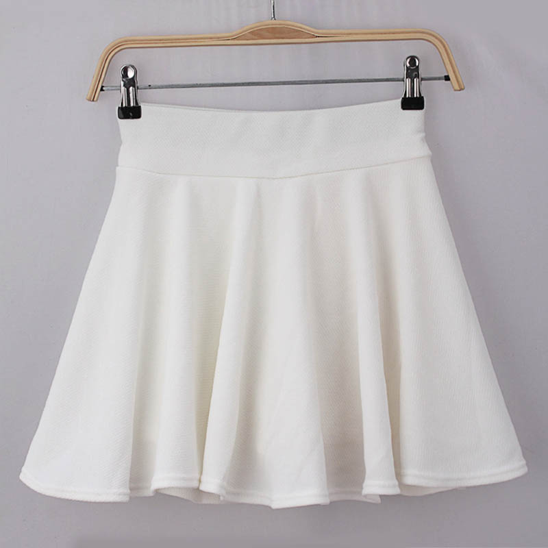 2015 Hot Women Bust Shorts Skirt Pants Pleated Plus Size Fashion Candy Color Skirts 9 Colors C718 5