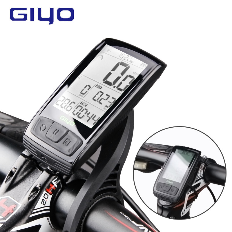 GIYO Wireless Bluetooth 4 0 Bike Computer Cycle Speedometer Speed Cadence Sensor Rainproof Waterproof Cycling Computer