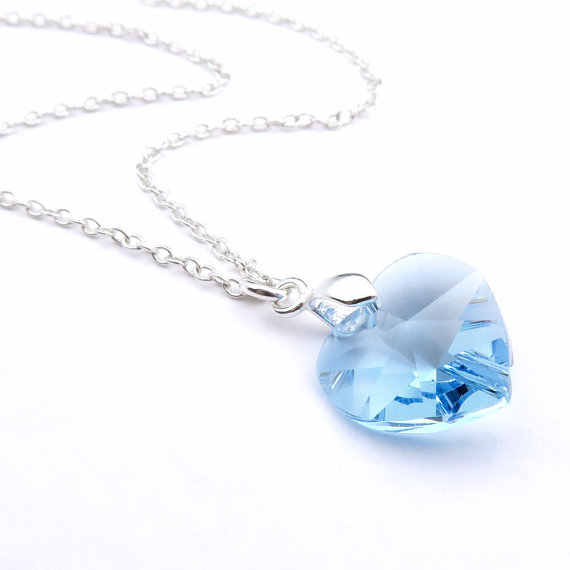 Crystal Heart Pendant Necklace Best Friends Forever And Ever silver necklace for women LQ0037