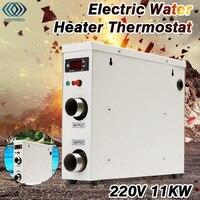 11KW 220 V elektryczny Podgrzewacz Wody Termostat Cyfrowy Wyświetlacz Urządzenia Grzewcze Basen & SPA Jacuzzi
