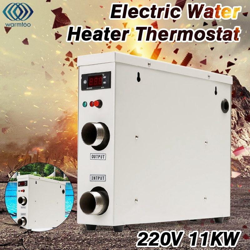 Electric Water Heater 11KW 220V Thermostat Digital Display Swimming Pool & SPA Hot Tub Heating Equipment lx h30 rs1 3kw hot tub spa bathtub heater