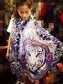 2016 Indian pashmina tiger shawl cotton scarf women cape female foulard ladies tippet ethnic wrap femme tube scarf Discount