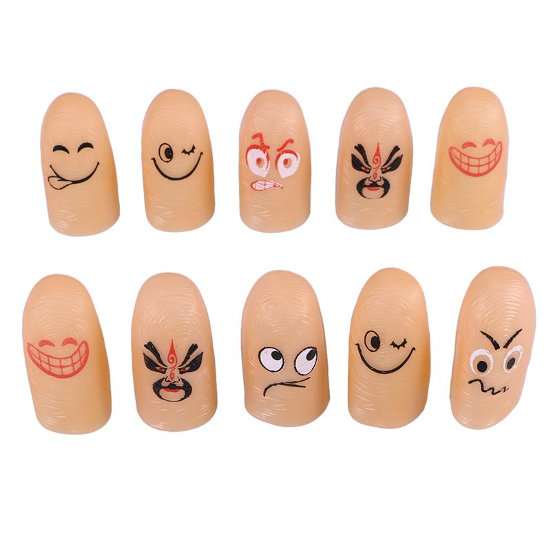 10 Pcs Finger Magic Trick Fake Soft Thumb Tip Finger Tip Close Up Stage Show Prop Prank Toy with Funny Prank Party