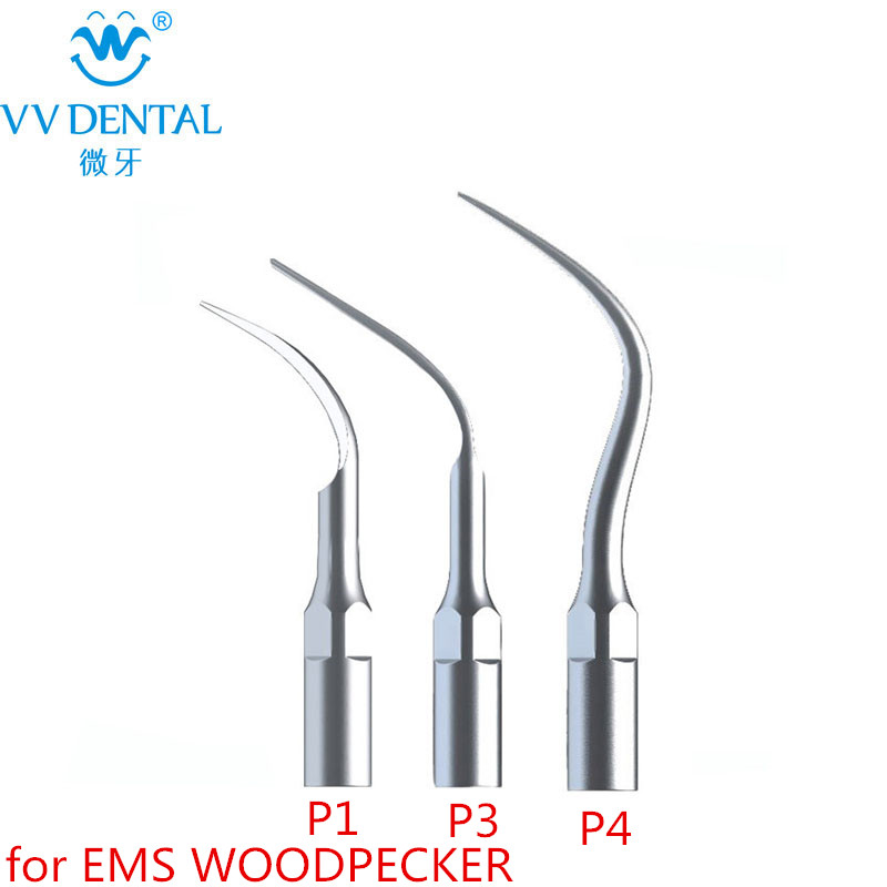 New 3Pcs/lot Ultrasonic Scaler Dental Tips P1 P3 P4 With EMS/ WOODPECKER dental Tooth Whitening Dental Tools