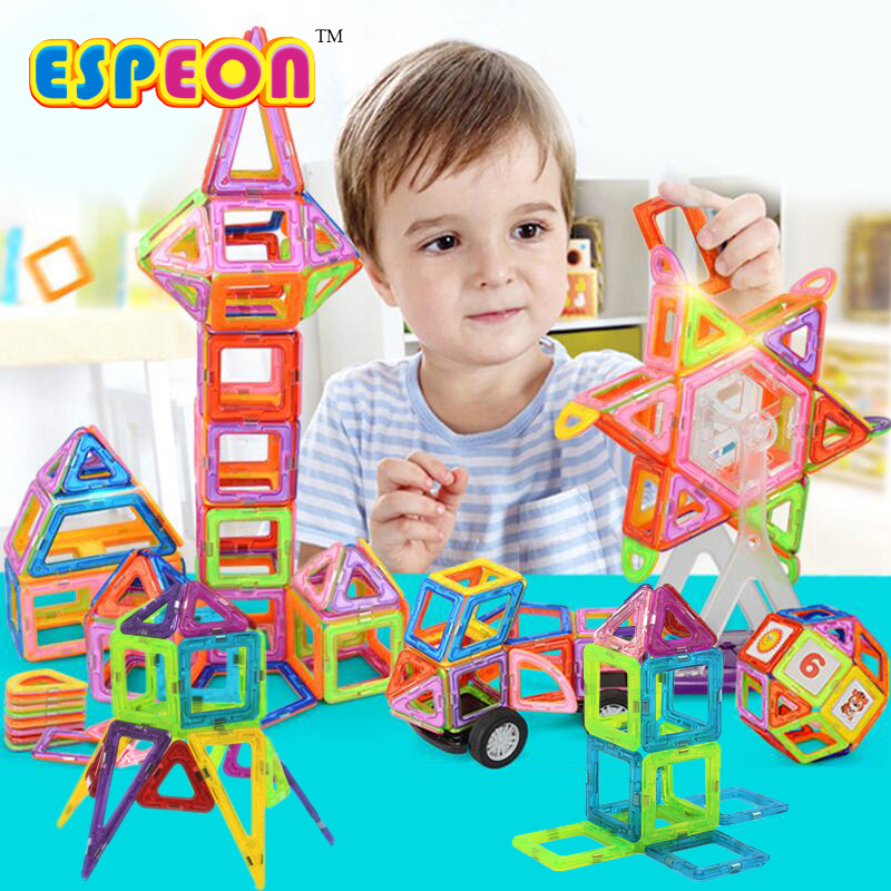 99Pcs/Lot Magnetic Building Blocks Models & Building Toy Magnet Plastic Technic Bricks Learning & Educational Toys For Children magnetic toy 77pcs mini magnetic models