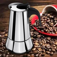 Percolator Stove Coffee Maker Coffee Kettle Stainless Steel Wide Bottom Home Coffee Pot Moka Espresso Maker